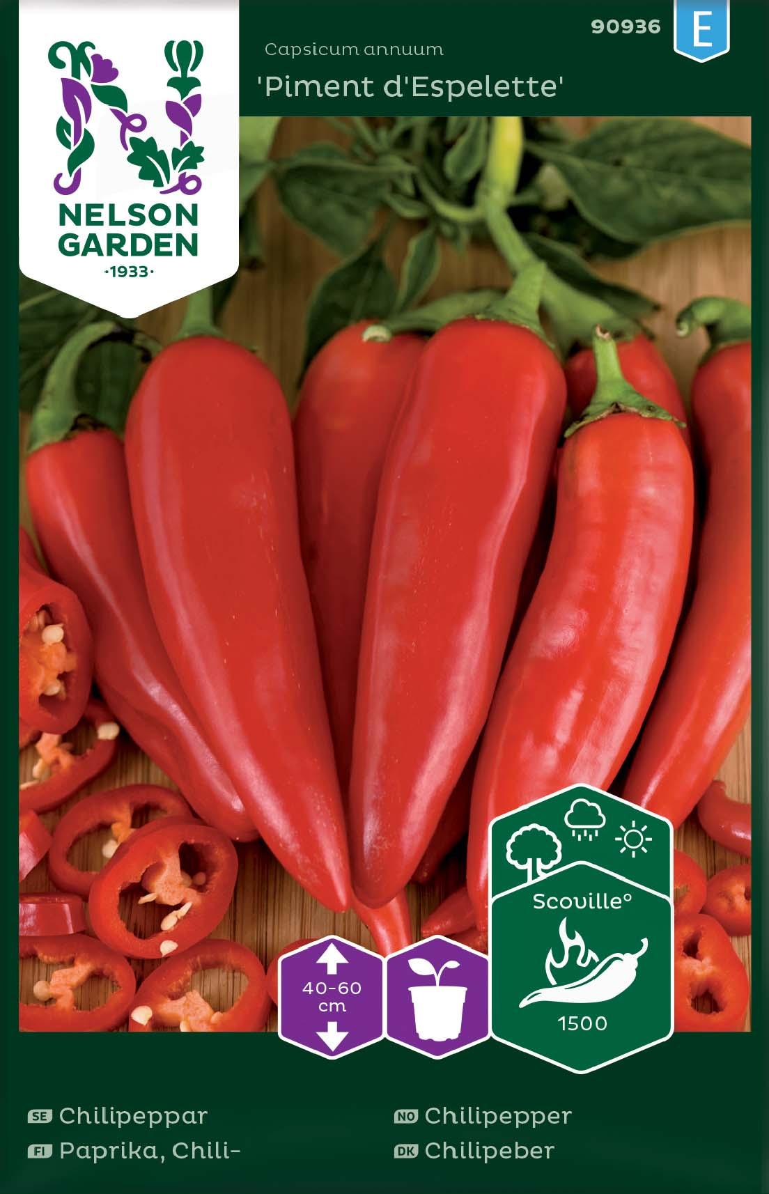 Produktbild på Chilipeppar 'Piment d'Espelette'