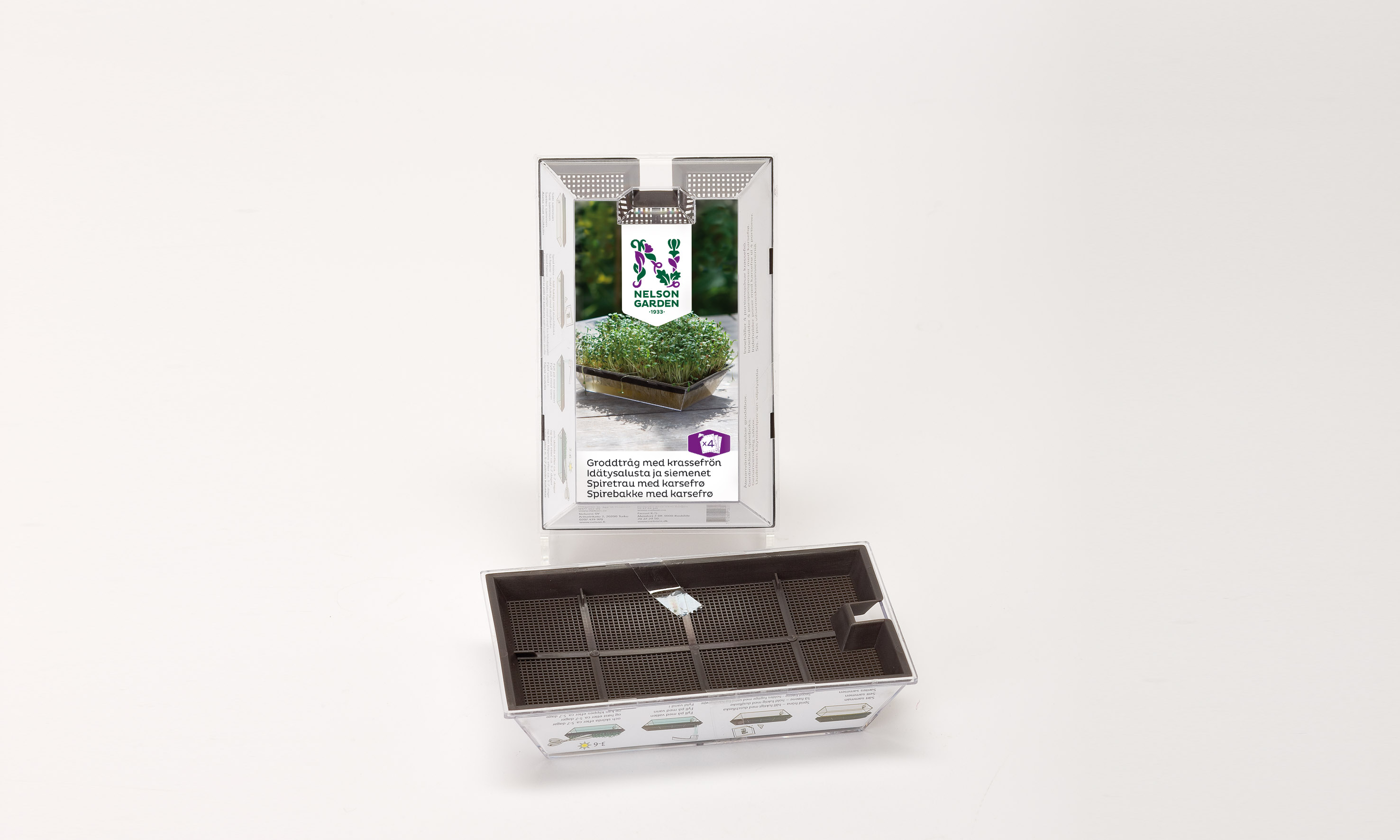 Produktbild på Groddtråg med krassefrön