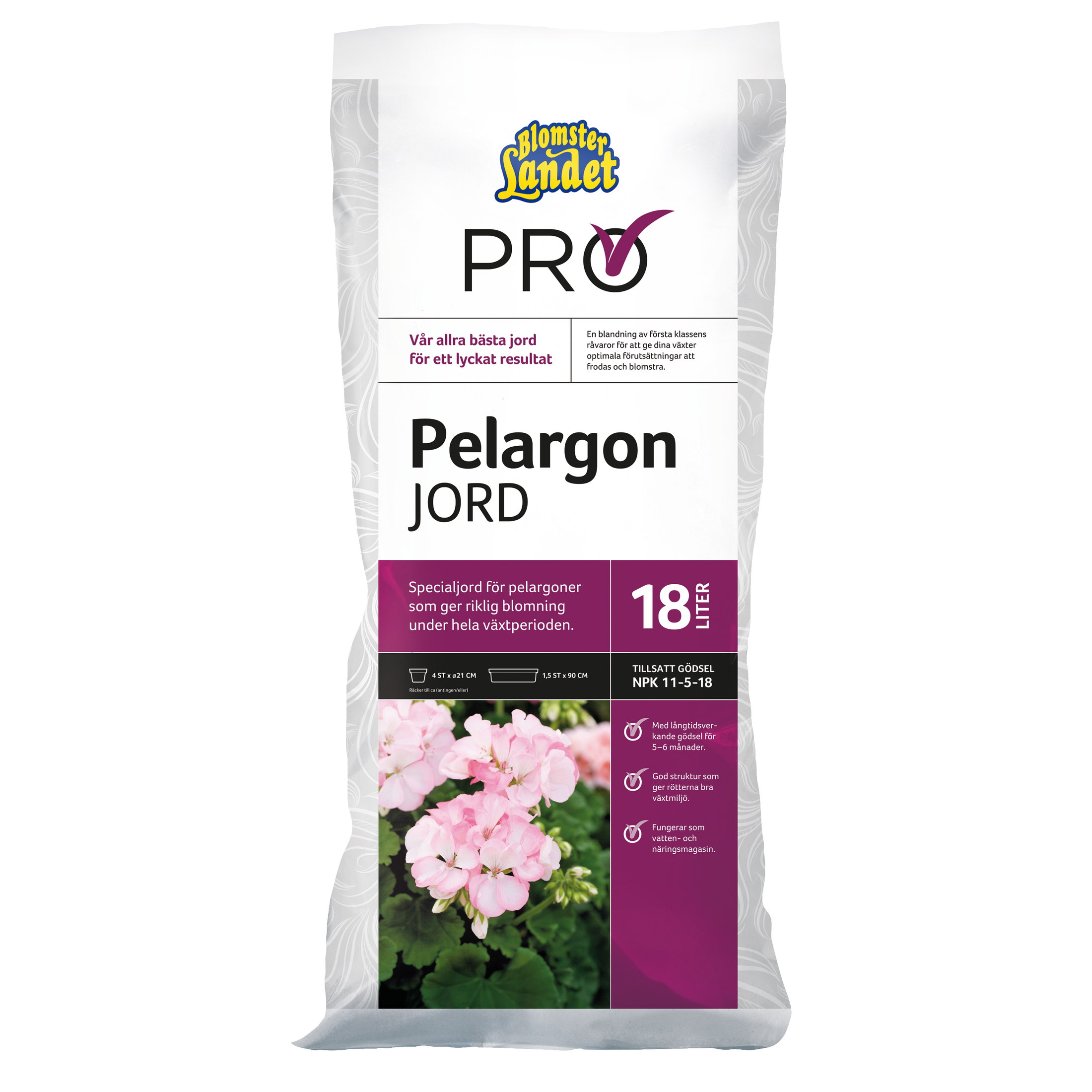 Produktbild på Pelargonjord  Blomsterlandet PRO