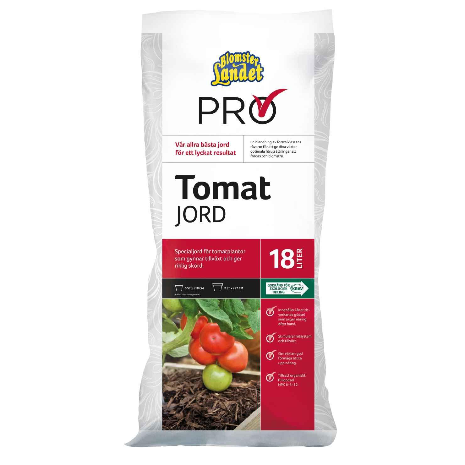 Produktbild på Tomatjord Blomsterlandet PRO