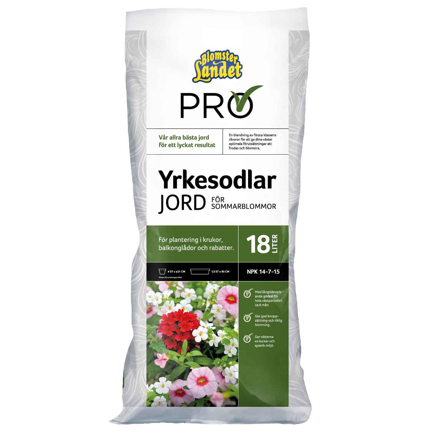 Produktbild 2 på Yrkesodlarjord för sommarblommor Blomsterlandet PRO