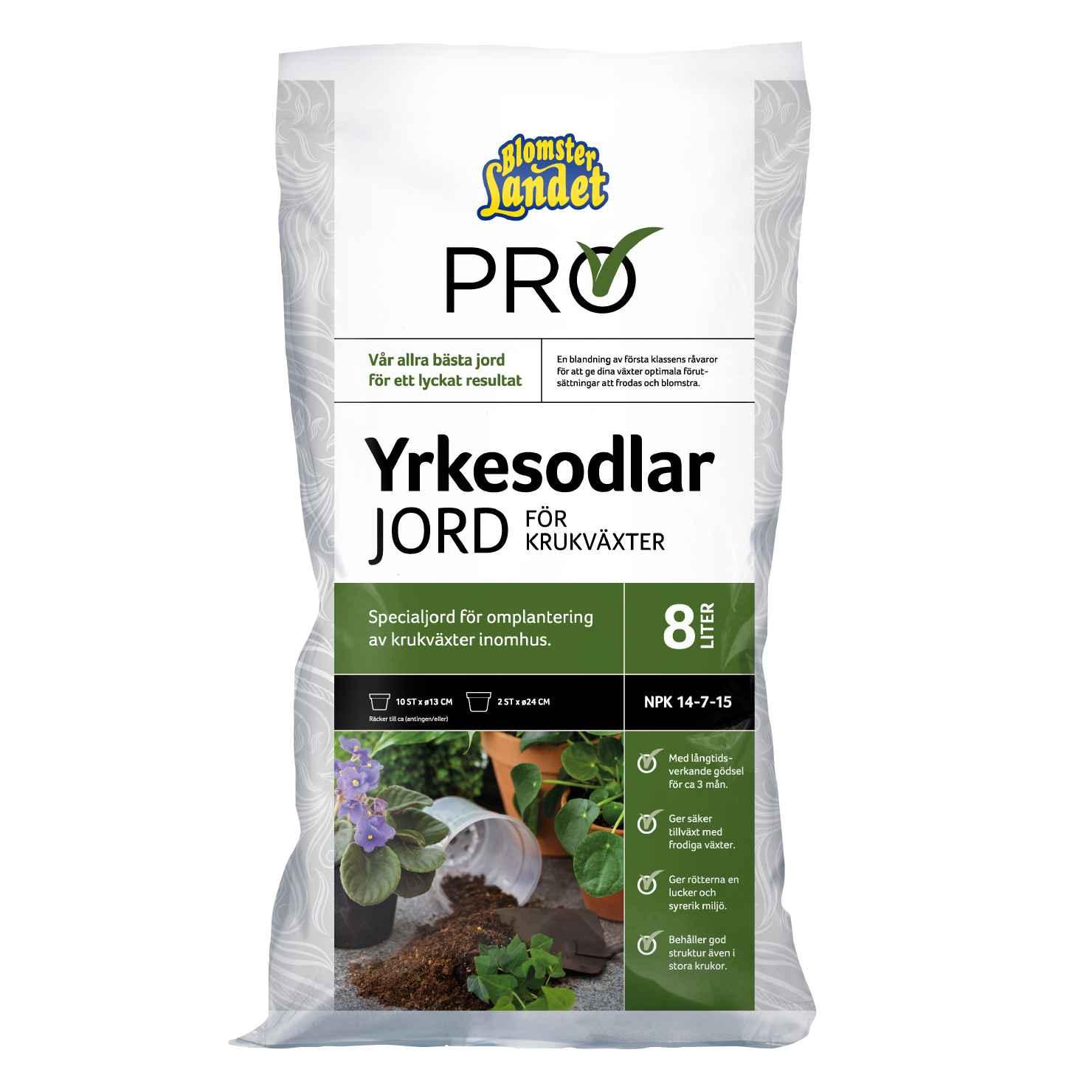 Produktbild på Yrkesodlarjord för krukväxter Blomsterlandet PRO