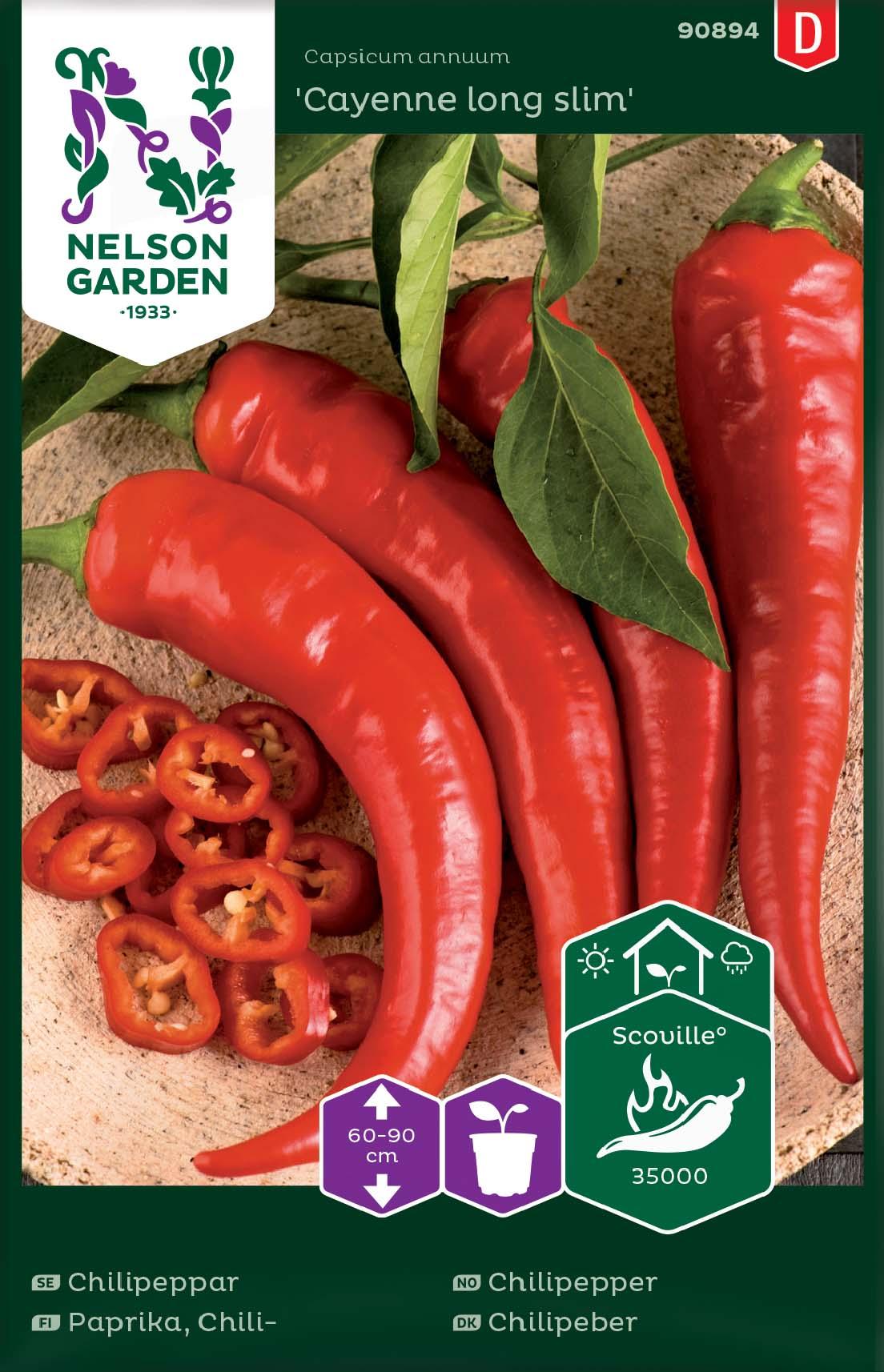 Produktbild på Chilipeppar 'Cayenne long slim'