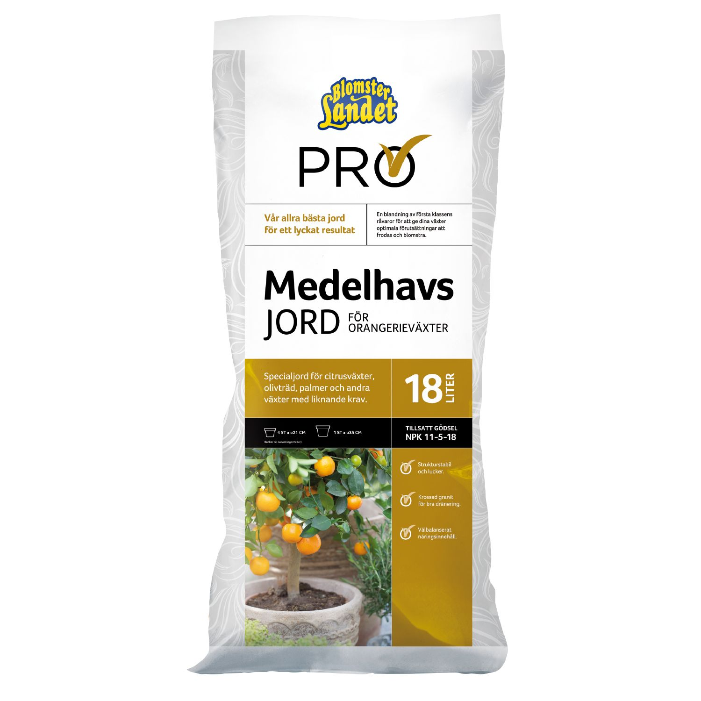 Produktbild på Medelhavs- & citrusjord Blomsterlandet PRO